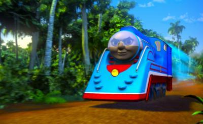 """ジャングル・虹の山・宇宙……もはや線路を走らない! 今年の『トーマス』は""""機関車らしからぬ""""場所を爆走"""