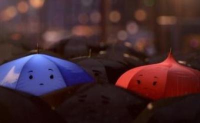 """雨の日が好きになる""""青い傘""""と""""赤い傘""""のラブストーリー! ピクサー短編『ブルー・アンブレラ』"""