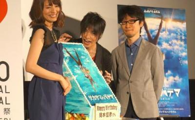 岡本信彦27歳の誕生日をサプライズでお祝い! 映画『サカサマのパテマ』ジャパンプレミア