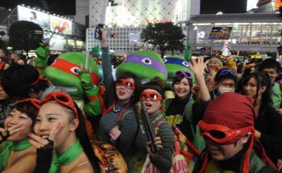 渋谷にタートルズ軍団出現! 筆者もパーティに参加してきたぞカワバンガ!