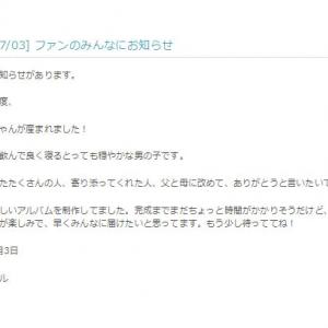 「うちに赤ちゃんが産まれました!」 宇多田ヒカルさんが男児出産をサイトで報告