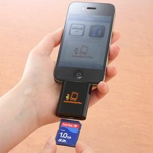 『iPhone/iPad』対応SDカードリーダー『zoomIt』 サンワサプライが発売