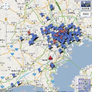 Googleマップで東京23区内の避難場所をリアルタイムに地図化中