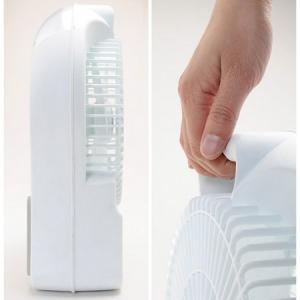 もう真夏の防災対策? LEDライトとFMラジオを搭載した充電式扇風機『circ-001』