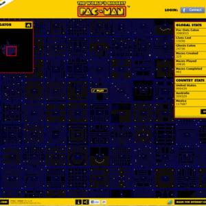 画面が『パックマン』だらけ? ユーザーが参加して世界最大のステージを作る『World's Biggest PAC-MAN』