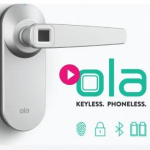 スマホ無しでも開ける事が出来る指紋センサ内蔵スマートロック『Ola Fingerprint Smart Lock』