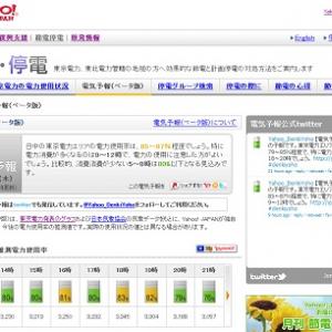 ヤフー 電気の使用状況を予測する『電気予報(ベータ版)』を公開