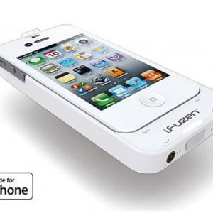 オンキヨーの『iPhone 4』用アンプ内蔵バッテリーケース『i.fuzen HP-1』にホワイトモデル登場