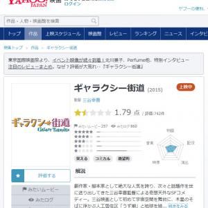 『Yahoo!映画』で実写版『進撃の巨人』より低評価 5点満点で1点台の三谷幸喜監督作品『ギャラクシー街道』
