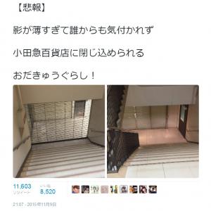 「おだきゅうぐらし!」 新宿の小田急百貨店に閉じ込められてしまった人のツイートが話題に