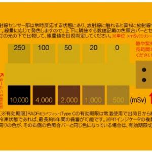 累積放射線量がひと目でわかるカード型累積放射線量計『RADFit』