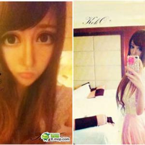 少女漫画のような大きすぎる瞳を持つ中国美少女…恐怖を感じると話題に