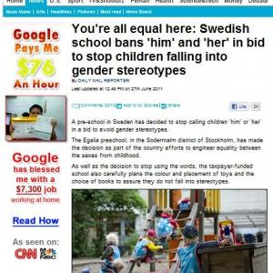 """「子どもたちを""""性別の固定観念""""から解放する」 スウェーデンのある幼稚園の試み"""