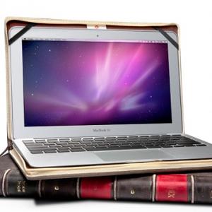 """『MacBook Air』を""""古い洋書""""に レザー製インナーケース『BookBook for Air』"""