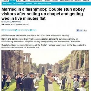 新しい結婚のカタチ? 英で「フラッシュモブ結婚式」を挙げたカップル