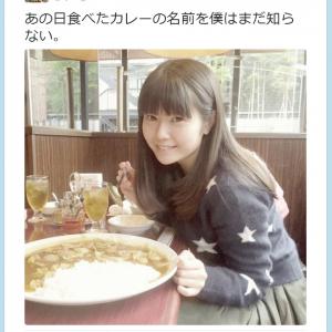 巨大なカレーの前で不敵に微笑む竹達彩奈さんが可愛すぎると『Twitter』で話題に