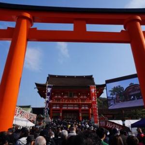 【2016年京都初詣】一番人気の伏見稲荷には巨大なモニタービジョンも登場