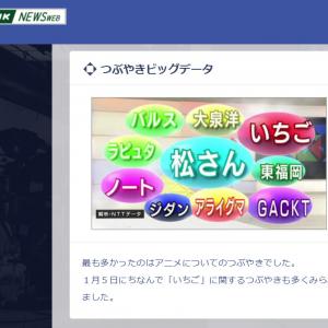 NHKのつぶやきビッグデータに「松さん」  『Twitter』のハッシュタグ「○○をNHKに」で大混乱