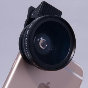 ケラレない&コンデジより大口径! スマホ用37mmクリップ式広角レンズ