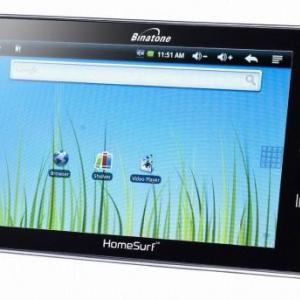 英BinatoneのAndroidタブレット「Homesurf 705」、7インチ感圧式パネルとAndroid 2.1を搭載して£99