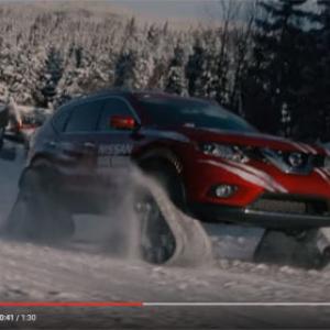 【動画】えっこれが日産車? 45度の雪の斜面も登れるガチな雪上車が登場