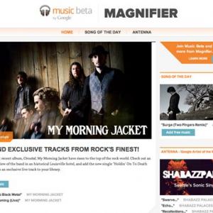 無料楽曲提供も Google『Music Beta』の音楽情報サイト『Magnifier』を発表