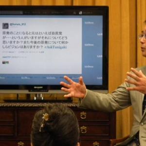"""自民・谷垣総裁、ツイッター対話集会で""""政界再編""""語る「民主党は早晩、割れざるを得ない」"""