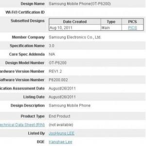 Galaxy Tab 7.7?Samsungの「GT-P6200」がBluetooth認証通過