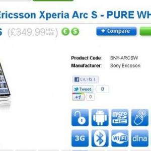 英国でXperia arc Sの予約受付が開始、9月26日発売の見込み