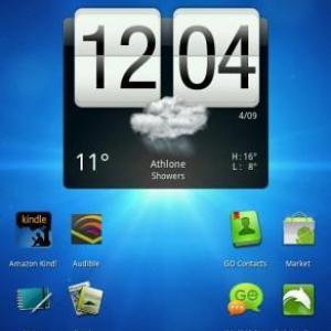 公式Honeycombを搭載したHTC Flyerのスクリーンショット