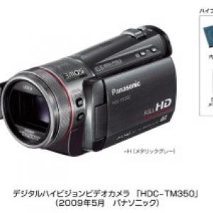パナソニック、世界最大容量64GBメモリー内蔵のハイビジョンビデオカメラ『HDC-TM350』など2機種発売へ