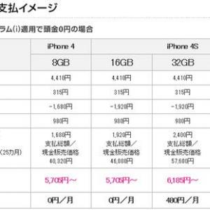 auに続いてソフトバンクも『iPhone4S』の料金プランを発表! 3Gと3GSの割賦はチャラに