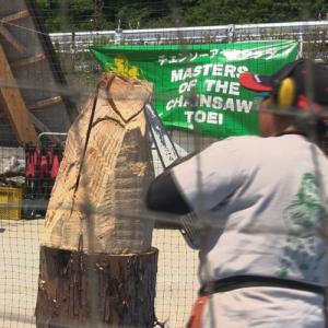パフォーマンスだけでは無いチェーンアート 日本の林業を盛り上げています
