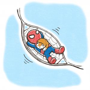 マーベルのえらい人にガジェ通スタッフが描いた「スパイダーマン」の絵を見てもらった!