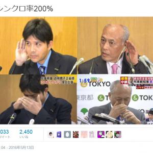 舛添要一都知事と野々村竜太郎元県議の動作がそっくりだと話題に
