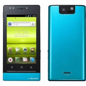NTTドコモ、3.2インチコンパクトサイズのAndroidスマートフォン「P-01D」を発表