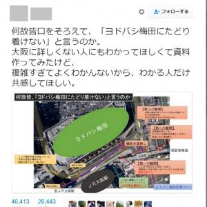 【大阪】道路に横断歩道がない! ヨドバシ梅田が「難攻不落」だと話題に