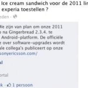 2011年XperiaスマートフォンをAndroid 4.0にバージョンアップする予定とSony Ericssonが回答