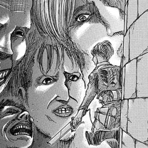 ガジェ通厳選! 進撃の巨人 for auスマートパス『ひとコマ大喜利』:にらみつける巨人たち