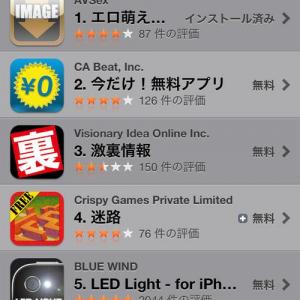 【アプリ】AppStoreのランキング1位が酷すぎる 卑猥な名前の画像検索アプリ