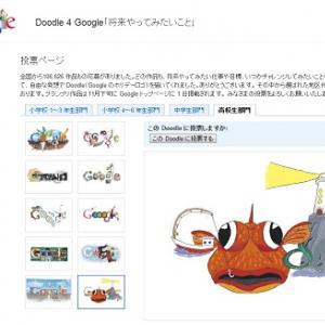 Googleの子どもロゴデザインコンテスト投票開始 テーマは「将来やってみたいこと」