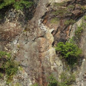 大阪府河内長野市・滝畑ダム集落跡を見守る岸壁の「磨崖仏」とは?