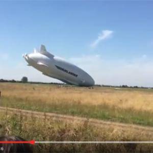 【動画】世界最大の飛行船「空飛ぶお尻」が2回目の飛行で早くも事故
