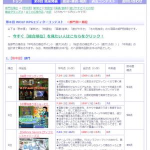 フリーゲームコンテスト「WOLF RPGエディター コンテスト(ウディコン)」第8回の結果が発表