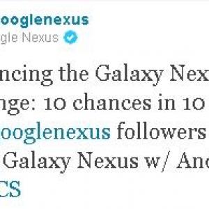 GoogleがGalaxy Nexusコンテストの開催を発表