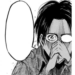 ガジェ通厳選! 進撃の巨人 for auスマートパス『ひとコマ大喜利』:真剣なまなざしのハンジ
