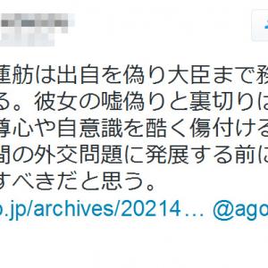 琉球大学の准教授が「華僑、謝蓮舫は出自を偽り大臣まで務めた女工作員」とツイートし騒動に