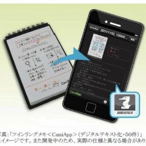 手書きメモを人力デジタル化する『KYBER』専用メモ『CamiApp』をコクヨS&Tが限定発売