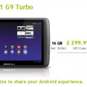 仏Archos、TI OMAP 4 1.2GHz を搭載したHoneycombタブレット「Arcchos 101 G9 Turbo」を欧州で発売
