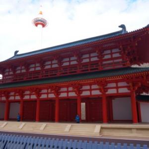 京都駅北口広場にでーんと羅城門登場!京都第二のシンボルとして、京都タワーとコラボレーション